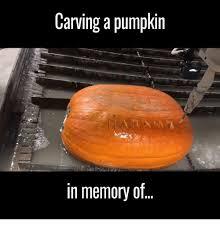 Meme Pumpkin Carving - carving a pumpkin in memory of meme on me me