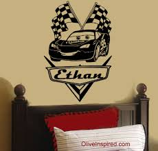 personalized disney cars lightning mcqueen vinyl wall decal