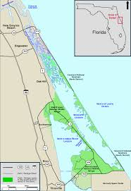 Map State Of Florida by Mosquito Lagoon And North Indian River Lagoon Florida