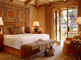 Moroccan Mystique Feature Wall Contemporary Bedroom by African Inspired Interior Design Ideas