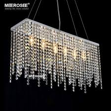 Stainless Steel Pendant Light Fittings Modern Crystal Pendant Light Rectangle Crystal Light For Dining