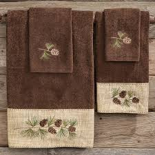 Bath Towels And Rugs Bear Towels Moose U0026 Pine Cone Towels Black Forest Decor