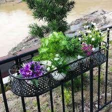 planters astounding railing flower boxes porch planters railing