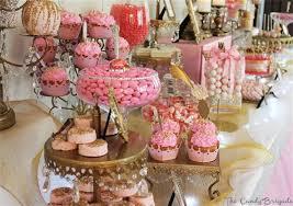 candy bar baby shower pink princess candy dessert buffet baby shower