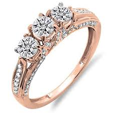3 engagement ring 1 00 carat ctw 14k gold diamond vintage bridal 3