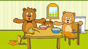 goldilocks and the three bears story book with coloring pages