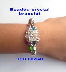 diy beaded cord bracelet images Diy how to make a crystal beaded stretch cord bracelet tutorial jpg