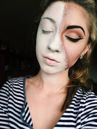 Halloween Skeleton Makeup Faces by Half Face Beauty With Chloe Ann