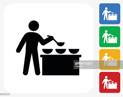 kitchen icon buffet and soup kitchen icon flat graphic design vector art getty
