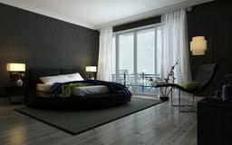 chambre moderne noir et blanc intérieur noir et blanc moderne de chambre à coucher photo stock