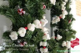 amigurumi food free pattern popcorn christmas wreath