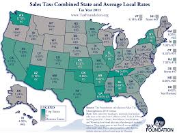 Where Is New Mexico On The Map by Ranking State And Local Sales Taxes Tax Foundation