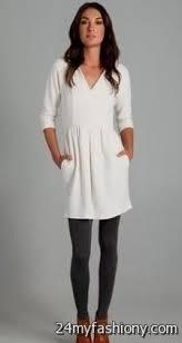 white sweater dress with leggings 2016 2017 b2b fashion