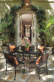 Iron Patio Dining Set Alluring Iron Patio Dining Set Dining Room Wood And Iron Outdoor