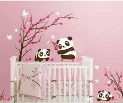 sticker pour chambre bébé stickers panda chambre bébé stickoo