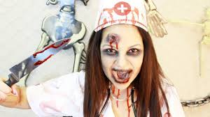 Bloody Nurse Halloween Costume Easy Zombie Halloween Costume Makeup