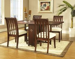 Laminate Flooring With Pad Furniture Rectangle Dark Brown Wooden Dining Table With Storage