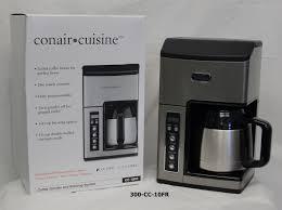 Coffee Maker With Grinder And Thermal Carafe Conair U2013 Cuisine U201d 10 Cup Thermal Coffee Maker U2013 Grinder U0026 Brewing