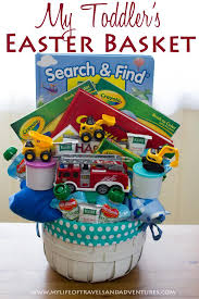 easter gifts for toddlers inside my toddler s easter basket firetruck curious george and