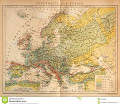 Climate Map Old Climate Map Of Europe Editorial Stock Photo Image 48788063