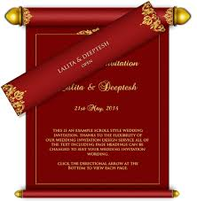 wedding cards design royal scroll email wedding card design 1 luxury indian asian