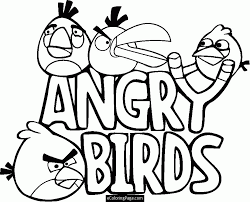 99 ideas angry birds coloring pages slingshot www