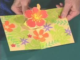how to make a hawaiian flower pop up greeting card hgtv
