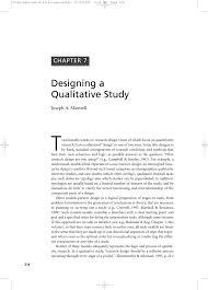 qualitative research design an interactive approach j a