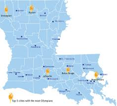 Louisiana Parish Map With Cities by Louisiana Olympians Know Louisiana