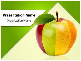 mixed fruit apple powerpoint template background