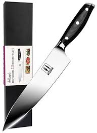 kitchen knives for amazon com allezola professional chef s knife 7 5 inch german