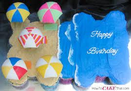 beach pull apart cupcake cake how to cake that