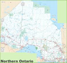 Trans Canada Highway Map by Large Detailed Map Of Northern Ontario