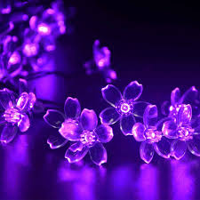 innoo tech solar flower string lights outdoor fairy 50 led blossom