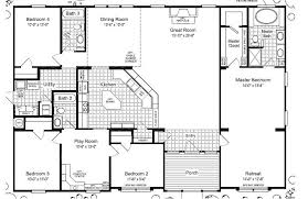 Triple Wide Mobile Home Floor Plans LasBrisasFloorplan - 5 bedroom house floor plans