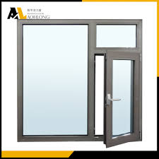 Casement Window by Aluminum Frame Double Glazed Tempered Glass Casement Windows