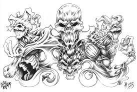 skull and demon tattoo design by xxdarkreignxx on deviantart