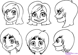 how to draw cartoon faces step by step faces people free