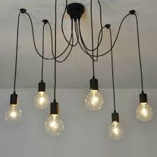 aliexpress com buy pendant lamps spider light e27 led vintage