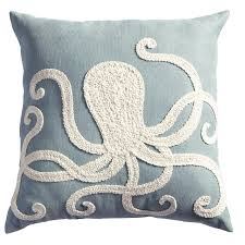 octopus embroidered pillow pier 1 imports