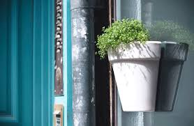 magnetic indoor outdoor planter adheres to both sides of glass