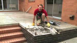 How To Build A Cement Patio How To Remove A Concrete Slab Diy At Bunnings Youtube