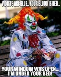 Scary Clown Memes - this is jack the clown from universal studios halloween horror night