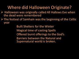 all hallows or where did originate