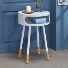 round or oval nightstand wayfair