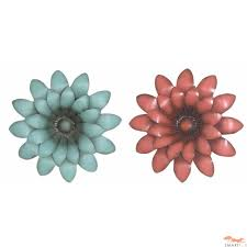 Wall Flower Decor by Metallic Wall Flowers Metal Wall Art Flower Clearance