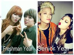 Senior Year Meme - freshman year vs senior year allkpop meme center