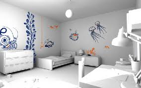 Fish Home Decor Accents Decorations White Modern Bedroom Interior Feature Cool Wall