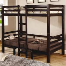 finish modern twin over twin convertible loft bunk bed