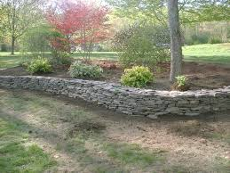 natural rock retaining wall and flower beds u2013 salem nh labrie